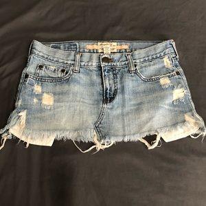 Vintage Abercrombie & Fitch Distressed Mini Skirt